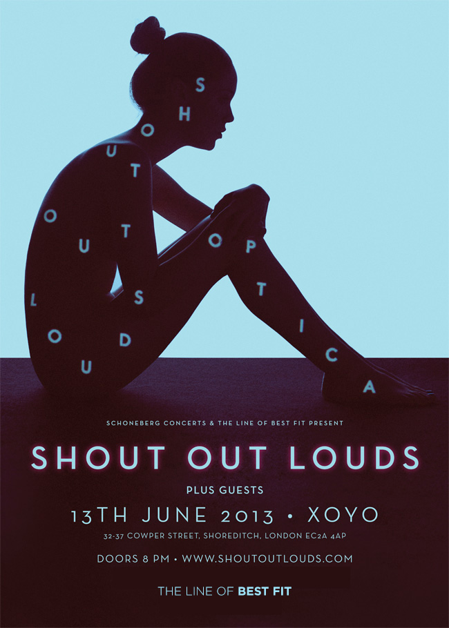 SHOUT OUT LOUDS XOYO LONDON JUNE 13