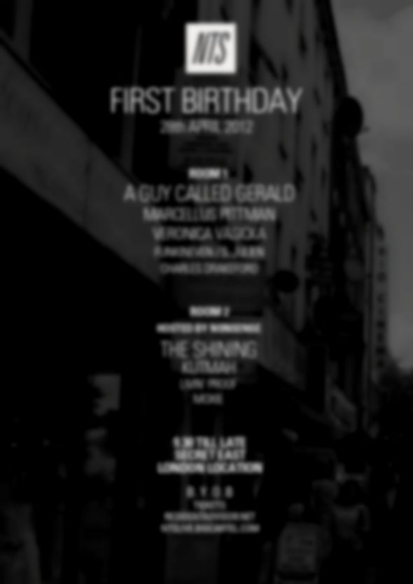 NTS Radio celebrate 1st birthday with party in London tonight