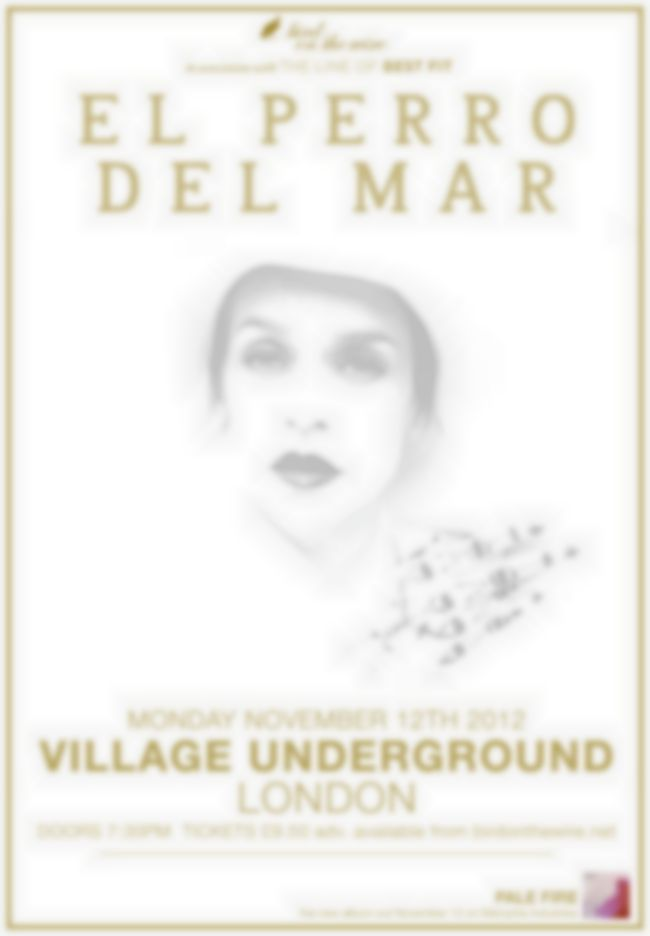 New show: El Perro Del Mar at Village Underground, November 12 2012