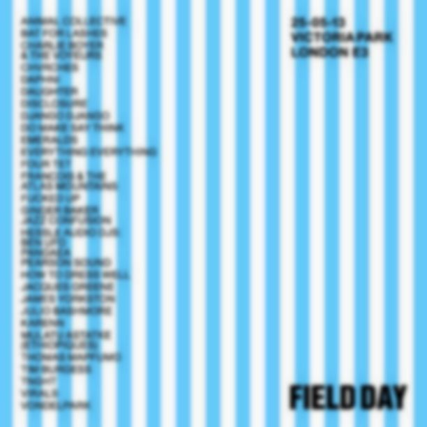 Animal Collective, Four Tet, Bat For Lashes confirmed for Field Day 2013