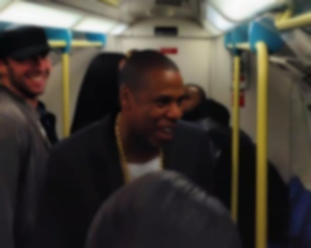 Jay Z takes tube to own London show