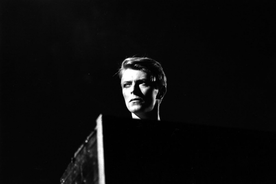 Still from Bowie live at Earl's Court