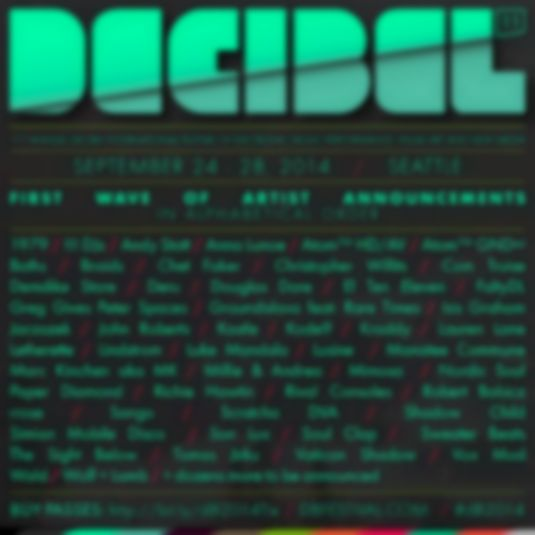 Son Lux, Baths, Chet Faker, Simian Mobile Disco and more to play 2014 Decibel Festival