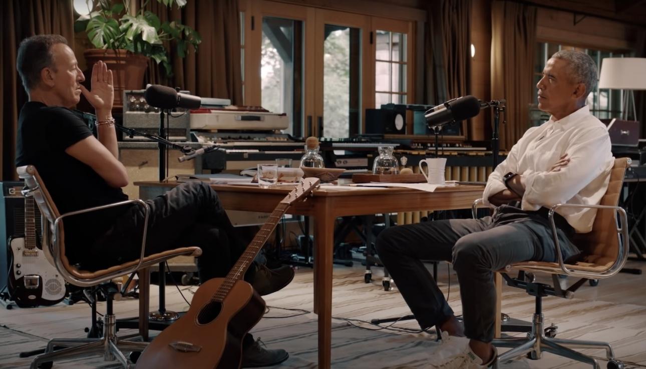 Брюс Спрингстин и Барак Обама запускают новую серию подкастов Spotify