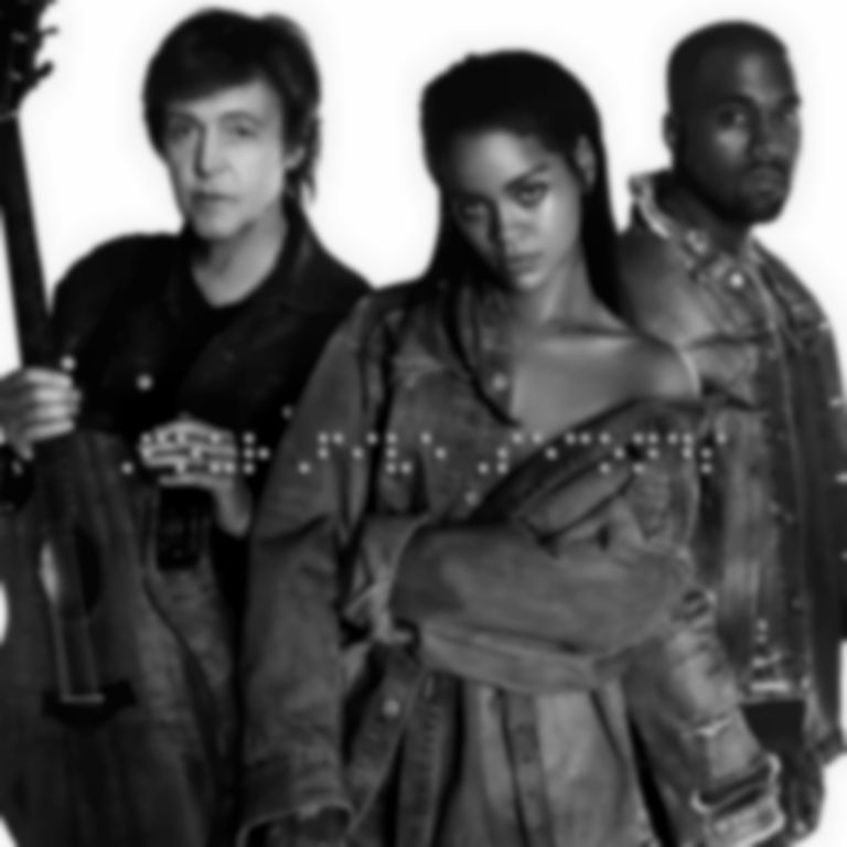 "Watch Kanye West, Rihanna and Paul McCartney's video for ""FourFiveSeconds"""