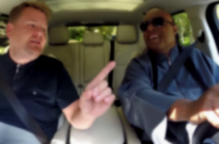 Stevie Wonder FaceTimes pals, sings hits, and makes James Corden cry