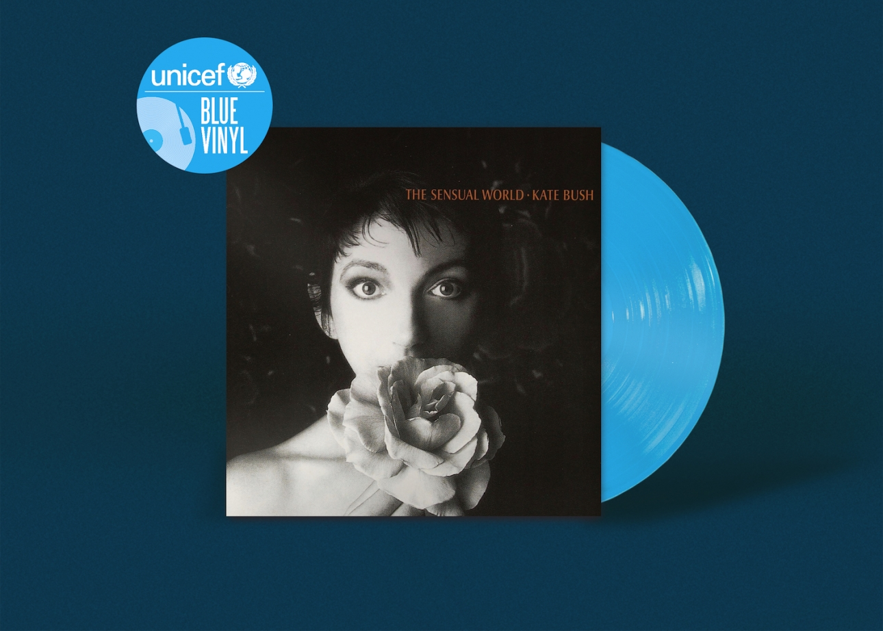 Unicef to release limited edition blue vinyl albums from Kate Bush