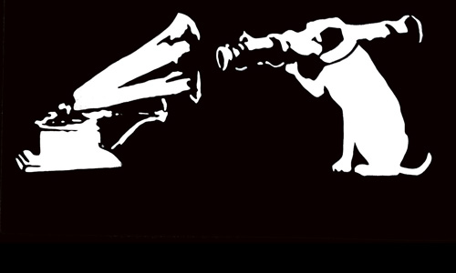 Hmv Dog Logo