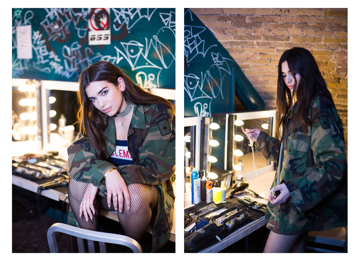 Dua Lipa Backstage With Best Fit