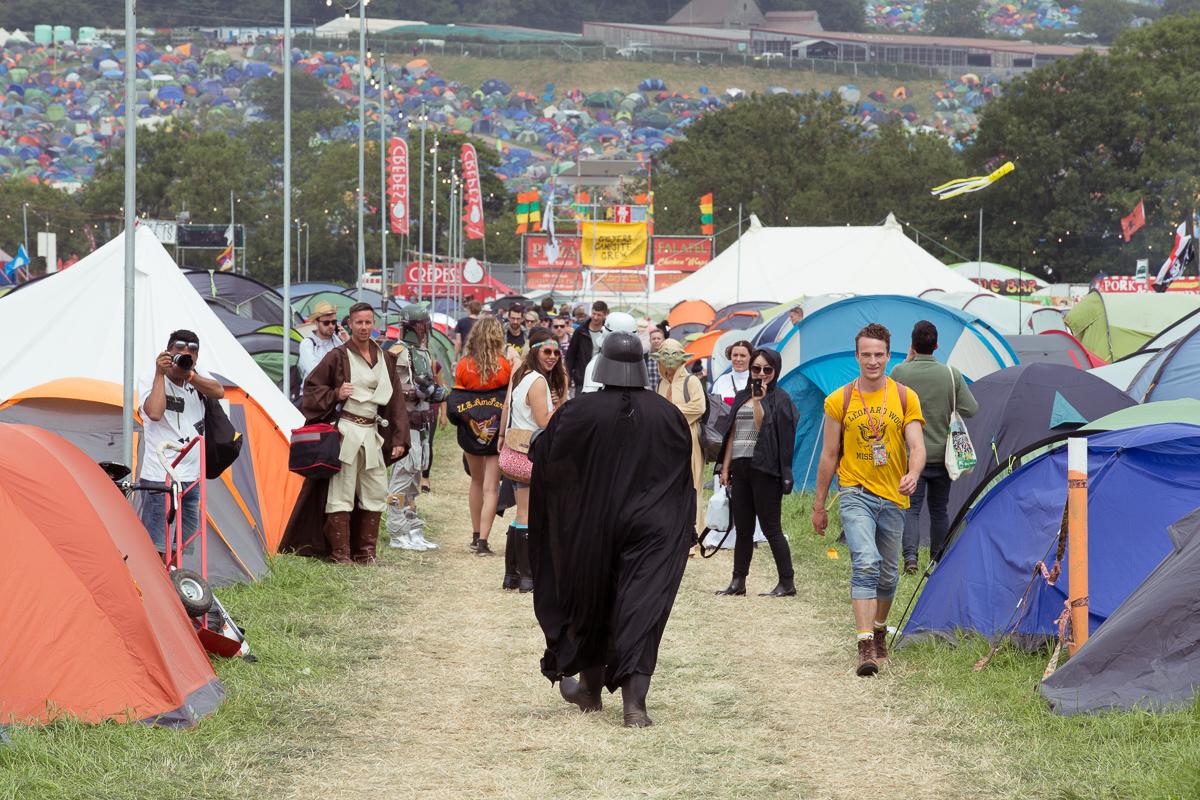 Emily Eavis thanks Glastonbury attendees for taking their tents home