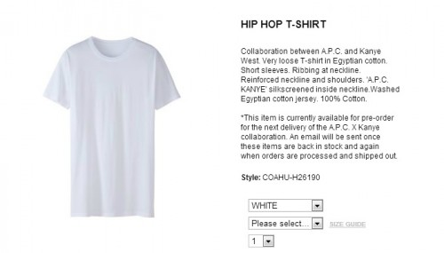 kanye west is selling plain white tshirts for 120